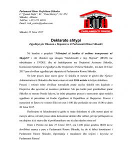 DeklarateShtypi-ParlamentiRinor